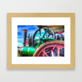 Clayton and Shuttleworth Traction Engine Art Framed Art Print