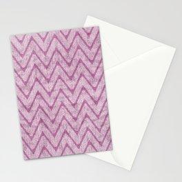 Soft Dusty Mauve Imitation Suede Zigzag Stationery Cards