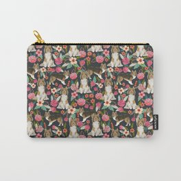 Sheltie dog lover gifts shetland sheep dog must have unique pet portrait florals dog pattern Carry-All Pouch