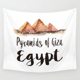 Pyramids of Giza watercolor Wall Tapestry