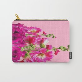 Coral Pink Fuchsia Flowers Still Life Abstract Carry-All Pouch