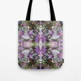 Psychedelic Positive Notes Lavender Zoom Tote Bag