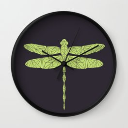 The dragonfly is not envoius Wall Clock