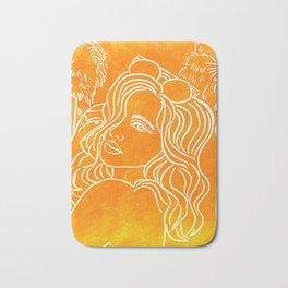 Original Linocut Art By Gina Lee Ronhovde Bath Mat