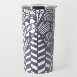 Boho World - Paper Cut Geometry Grey Travel Mug
