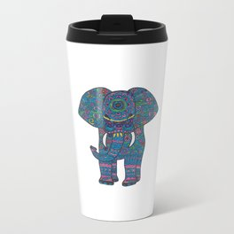 colored elephant Travel Mug