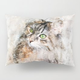 Duchess Watercolor Cat Pillow Sham