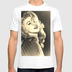 Vintage Lady Mens Fitted Tee X-LARGE White