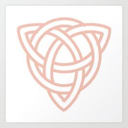 Triquetra or Celtic Knot Art Print