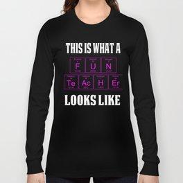 FUN TEACHER LOOKS Teachers Teachers Assistant Design s WOMENS PINK Long Sleeve T-shirt