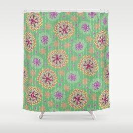 Kantha floral 8 Shower Curtain