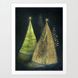 Chritmas Trees Art Print