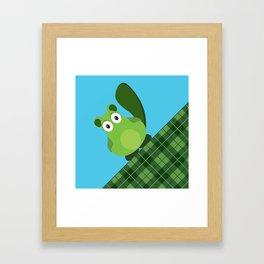 Vacka skottish plaid Framed Art Print