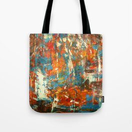 An Oasis In A Desert Abstract Painting Tote Bag