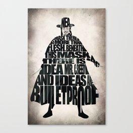 V 4 Vendetta Canvas Print