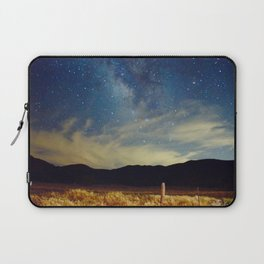 Milky Way Star Night Sky Over Wheat Field Magical Landscape Laptop Sleeve