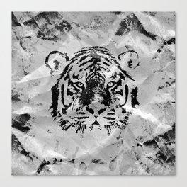 Black and white Tiger portrait  on paper canvas Canvas Print