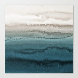 WITHIN THE TIDES - CRASHING WAVES TEAL Canvas Print