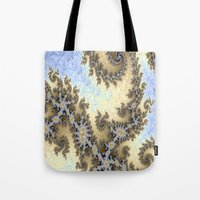 bar Tote Bags featuring Sand Bar by BohemianBound
