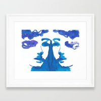 mirror Framed Art Prints featuring mirror by Zsofi Porkolab