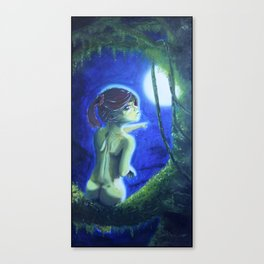 """Nude Tree Hugger Moonlight"", by A.S.O. Canvas Print"