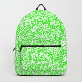 Tiny Spots - White and Neon Green Backpack