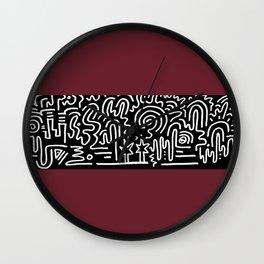 Clean Stripe (Brick) Wall Clock