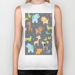 Jungle Animals Biker Tank
