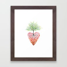 Tree of life heart Framed Art Print
