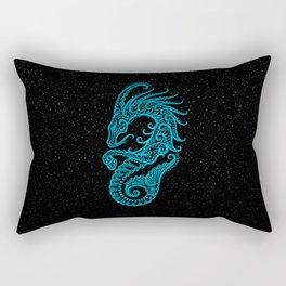 Blue Capricorn Zodiac Sign in the Stars Rectangular Pillow