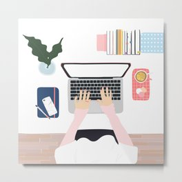 Once upon a daydream - new home office -  Metal Print