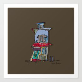 The crooked house Art Print