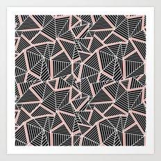 Ab Lines Blush Art Print