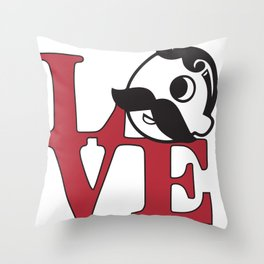 Love Natty Boh Throw Pillow