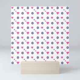 heart and star of david Mini Art Print