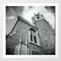 Old Church angle Art Print
