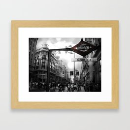 Gran Via-Madrid Framed Art Print