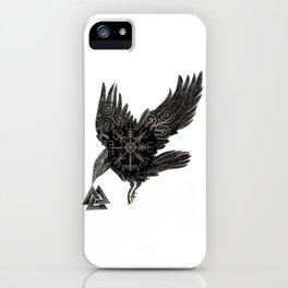 Norse Raven & Rune iPhone Case