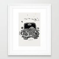 jeep Framed Art Prints featuring Jeep by inktheboot