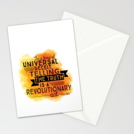 Revolutionary Act - quote design Stationery Cards