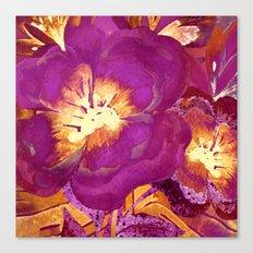 vintage big flower in purple Canvas Print