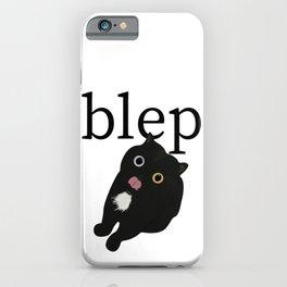 Cat blep iPhone Case