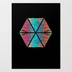 Hexagon Art Print