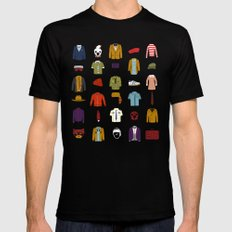 W.A Luggage MEDIUM Black Mens Fitted Tee