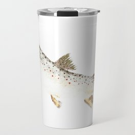 Brown Trout - Gyotaku Travel Mug
