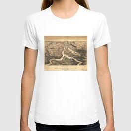 Vintage Ohio & Mississippi River Junction Map (1861) T-shirt