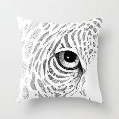 Jaguar Face Throw Pillow