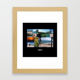 Colorful Photo Collage of Labadee, Haiti Framed Art Print