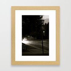 A Modern Foggy Night Framed Art Print