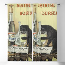 Vintage poster - Absinthe Bourgeois Blackout Curtain